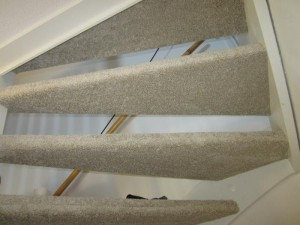 Open trap achterkant gestoffeerd
